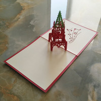 art architectural - pieces D Architectural Perspective Bell Tower Travel Greeting Cards Handmade Paper Art Music Series Christmas Cards