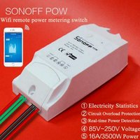 Wholesale Itead Sonoff Pow WiFi Wireless Switch With Power Consumption Measurement Smart Home Power Monitor Statistic Remote Control