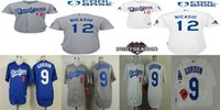 angeles dodgers logo - Los Angeles Dodgers Mens Jerseys Dee Gordon Juan Nicasio Baseball Jersey Size M XL Fast Shipping Embroidery Logos