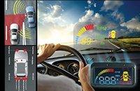 Wholesale HUD Smart Blind Spot Detection System Sensor Safety Monitor Universal Car with sensors black