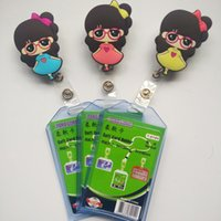 Wholesale 3pcs Bank Credit Card Holders Card Bus ID Holders Identity Badge with Cartoons Retractable buckle ZC026