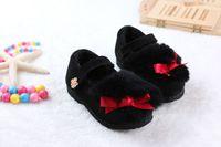 Wholesale New children shoes girl fashion shoe beautiful flower shoe kids Add fur keep warm