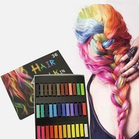 alcohol wash - 36 Colors Alcohol Free Easy To Apply or Wash Hair Color Chalks Convenient Temporary Super Hair Dye Colorful Chalk Hair Color Tool ZA1969