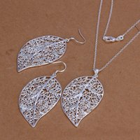 abc dresses - Free Wings Fashion Necklaces Earrings Sets Crystal White Leaf Dress Jewellery B7 ABC
