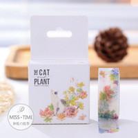 Wholesale 2016 S29 Meter Garden of Cat Paper Washi Tape Adhesive Tape DIY Scrapbooking Sticker Label Masking Tape Craft
