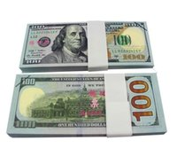Wholesale Earliest edition Money banknote USD100 for props and Education bank staff training paper fake money copy money children gift