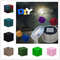 MIX STYLE ball jigsaw - 5mm Metaballs Magnetic Buckyballs Neocube Jigsaw Puzzle Magic Magnetic Ball Cube Magic Toys Children s Christmas Gift Metal Box