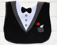 baby tux - 3D Funny Cute Baby Feeding Bib Tuxedo Tux Dinner Jacket Formal Wear Personality EC1199