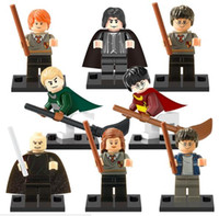 Wholesale 8pcs set Fiction Harry Potter Snape Ron Malfoy Lord Voldemort Hermione Minifigure Model Building Block Toy in stock