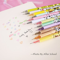 Wholesale Korean Creative Panda Animal Gel Pens mm Color Pen Kawaii School Supplies Cute Gel Pen Cute Korean Stationery Papelaria