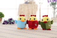 Wholesale 2017 new hot kelanwei Stuffed chicken doll Insect chicken dolls dolls red bule green Company annual gift
