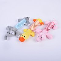 Wholesale Brand New Dog Toy Pet Puppy Plush Sound Chew Squeaker Squeaky Pig Elephant Duck Toys