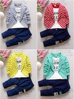 Wholesale 2PC Toddler Baby Boys Clothes Outfit Boy Kids Wedding Party Suits Outfits Sets