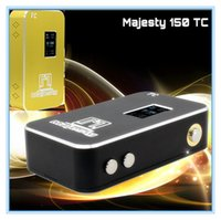 Wholesale Hot Sales electronic cigarettes The Newest Majesty W TC Box Mod thread W Black and Gold Mod Temperature Control