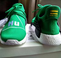 baseball pitches - Wailly NMD Original Human Race Shoes Sneakers Pharrell Williams nmds Runner Hu Being Special PW Pitch Black Yellow Red Green With Box