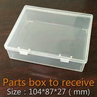 Wholesale Parts box collapsible rectangle Plastic Boxes Transparent Plastic Container Storage Blank Component Screw Jewelry Tool Boxes