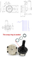 band positioning - 10pcs Adjustable Pole Position PANEL PCB Wiring ROTARY SWITCH Band Switch Selector Switch Pole Position