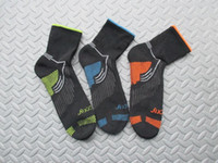 athletic ankle support - American man Terry Performance professional support type marathon Racing jogging sports socks