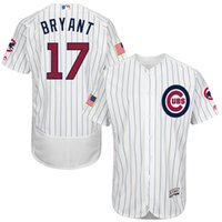baseball stars - 2016 Majestic Kris Bryant Chicago Cubs Authentic Stars Stripes Flex Base Jersey White Throwback Baseball Jerseys free shiping