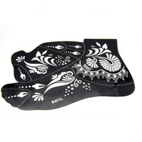 Wholesale Henna Tattoo Stencils Hands Feet Body Paint Large Flower Glitter Airbrush Mehndi Foot Tattoo Stencil Templates