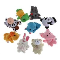 Wholesale Animal Cute Finger Puppet Plush Toys Cartoon Biological Child Baby Favor Doll Children Toy Gifts for Kids