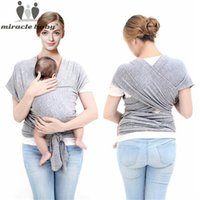 Wholesale 5 M Miracle Baby Cotton Newborn Two Shoulders Backpacks Light Grey Purple Blue Baby Carrier Wrap for Free Ship