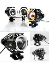 other   2PCS 125W 12V Motorcycle Headlight Motorbike 3000LM moto spotlight U7 LED Waterproof Driving car Fog Spot Head Light Lamp 2016