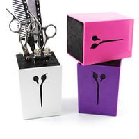 Wholesale 1 Clone New Hair Scissors Holder Fashion Salon Professional Scissor Set Organization Storage Box High Quality Colors