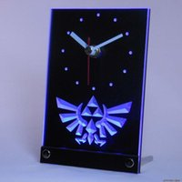 Wholesale tnc0204 Legend Of Zelda Triforce Table Desk D LED Clock
