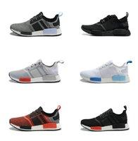 NMD Runner PK Primeknit pour les femmes Chaussures de sport de mode Low Cut Chaussures de sport en plumes en plein air Meilleur choix Taille US 5 - 11