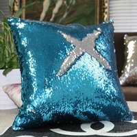 Wholesale Black White Silver Golden Gold Rose Sky Blue Red Pink Shiny Sequins Pillow Case Sequins cushion Case Cover Home Sofa Decor Pillow Covers
