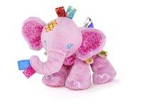 Nuevo animal Taggies elefante perro suave relleno de felpa cama de pesebre colgando de la mano sonroja bebé juguetes niño chico regalo muñecas