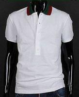 Wholesale Mens Casual T Shirts New Spring Autumn Cotton Sports T Shirt Brand Designer Leisure Tee Polo Shirts Fashion White M XXL