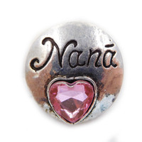 Wholesale A007 newest Nana copper noosa chunk cross ginger snap buttons for leather alloy bracelets