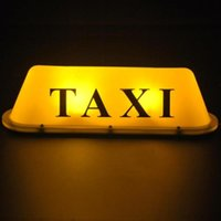 Wholesale LED V Car Taxi Cab Roof Top Sign Light Lamp Magnetic Yellow