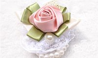 Wholesale Roses silk the bride brideroom corsages brooches the bride holding flowers bridemaid wrist flowers bouquet