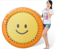 Wholesale 2016 new disign smiling face TUV GS popular foldable round Outdoor kids spring gymnastic jumping bed for christmas gift