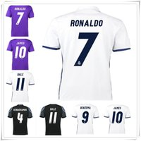Wholesale 2017 Soccer Madrid Calcio Shirts Benzema Ronaldo camisetas de futbol Modric Kroos Sergio Ramos Bale Marcelo Hot Sale Cheap