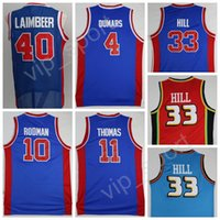 Basketball basketball joe - Men Isiah Thomas Basketball Jerseys Cheap Dennis Rodman Bill Laimbeer Jersey Joe Dumars Grant Hill Team Blue Red White Color