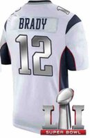 Wholesale Popular Brady Super Bowl Jersey Sliver words Football Jerseys White Super Bowl Jerseys Cheap Football Jerseys Online Men Shirts