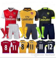 Wholesale Top Quality Arsenal jerseys kit Away home RD goalkeeper Jersey WILSHERE OZIL WALCOTT RAMSEY ALEXIS shirt socks