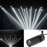 Wholesale Cool Total W LED White Beam Pinspot Light Spotlight Super Bright Lamp Mirror Balls DJ Disco Effect Stage Lighting for KTV DJ