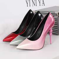 Wholesale Europe and the United States are fine with waterproof leather pointed high heeled slim sexy ladies shoes