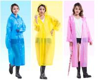 Wholesale fashion color environmental protection EVA adult creative raincoat disposable raincoats