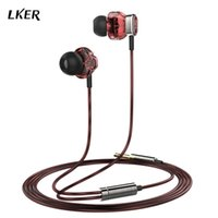 apple video games - Lker i1 Dual Dynamic In ear Style Music In Ear Headphone Double Driver Unit Earphone HiFi Headphones Video Game In Ear Earphones for iPhone