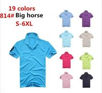 big business shirt - men polos brand summer big horse embroidery Business casual classic fashion breathable men T shirts Camisa Polo