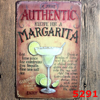 Wholesale Retro Metal Tin Signs Home Decor Club Pub Bar Drink Menu Chic Painting Art Decor Old Wall Decoration Tinplate Sign cm ZA1531