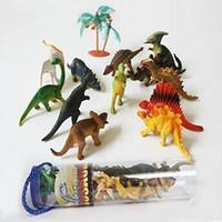 Wholesale Jurassic Park Mini Vinyl Dinosaur Assortment with Plastic Storage Drum by Imagination Generation inch ZJ0002 dinosaur m