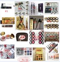 Wholesale 2017 All Stock Kylie Jenner Items Birthday Holiday Edition Eye Shadow Eyeliner Mascara Palette Kit Set Lip Gloss Lipstick Faced Makeup