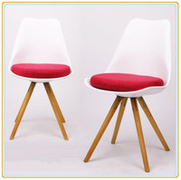 Wholesale Modern Design Leisure Plastic Chair with Wooden Leg Home Chair Garden Chair